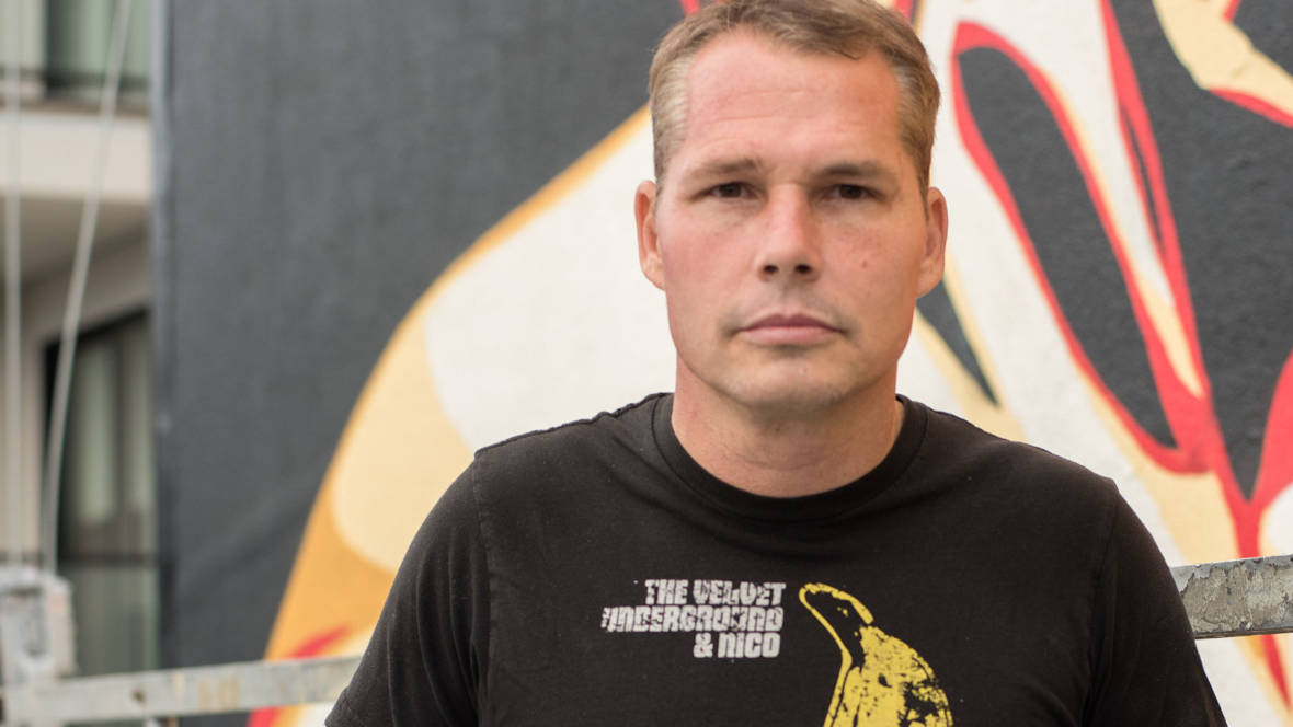 Shepard Fairey, well-known for his 'Hope' poster during the 2008 election, focuses now on specific social issues in a new San Francisco project. Photo: Mark Jayson Quines