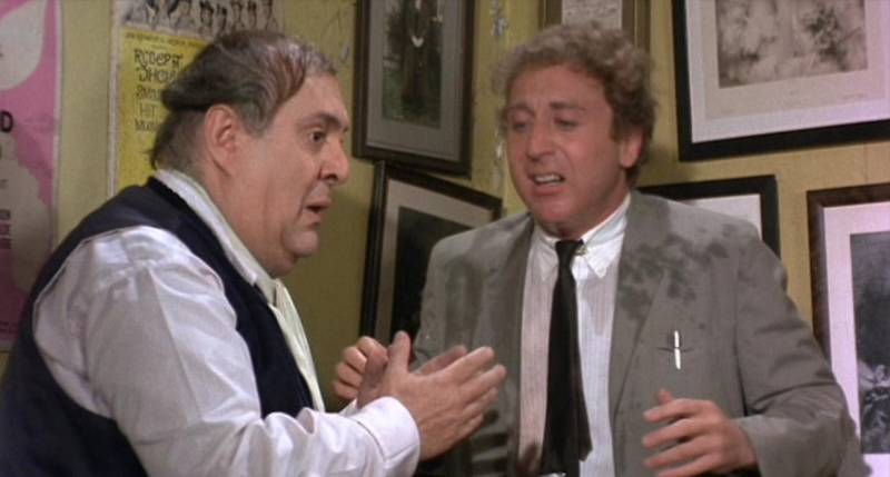 Gene Wilder with co-star Zero Mostel in 'The Producers.'