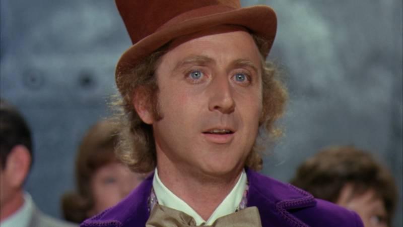 Gene Wilder as the eccentric chocolatier Willy Wonka.