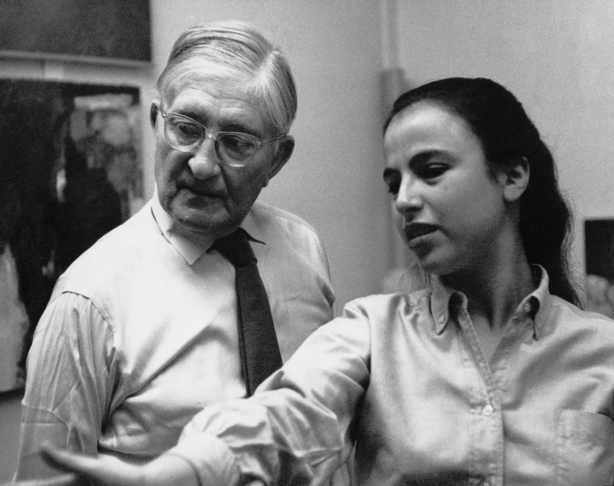 Eva Hesse and Josef Albers at Yale.