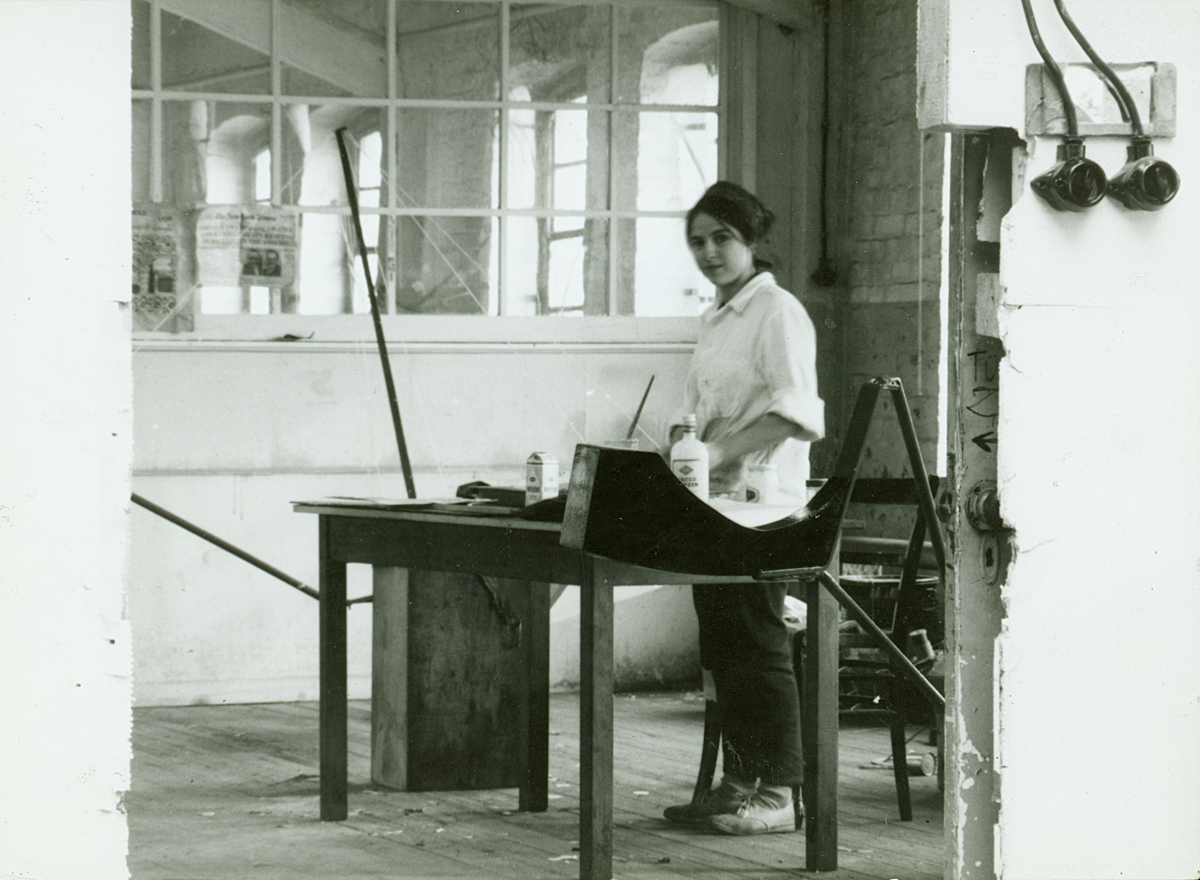 Eva Hesse in Kettwig, Germany, 1964.