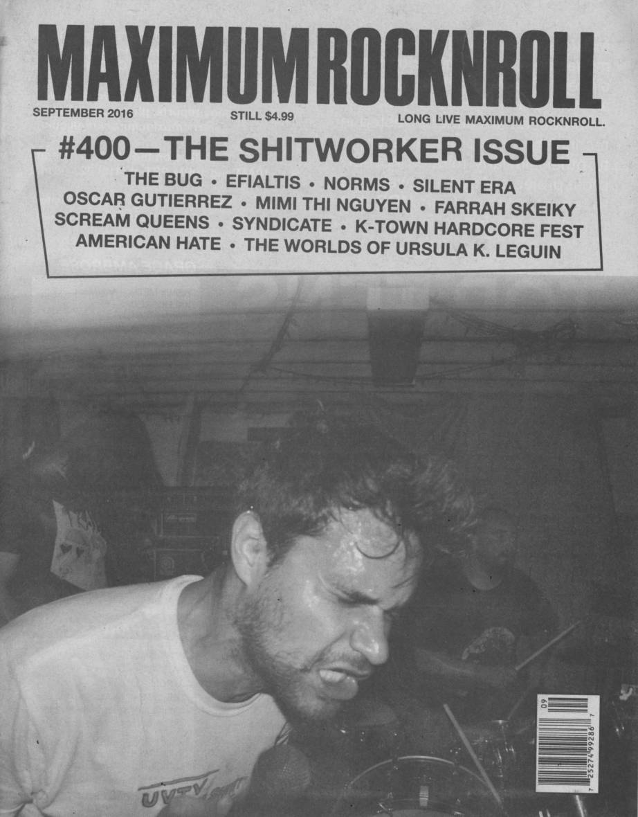 Cover of Maximum Rocknroll's 400th issue