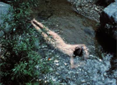 Ana Mendieta, Still from 'Creek,' 1974.