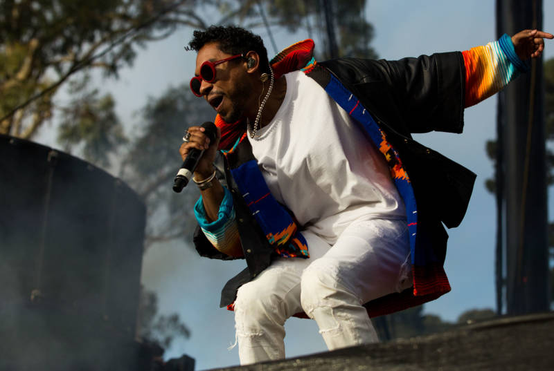 Miguel performs at the 2016 Outside Lands Festival in Golden Gate Park.