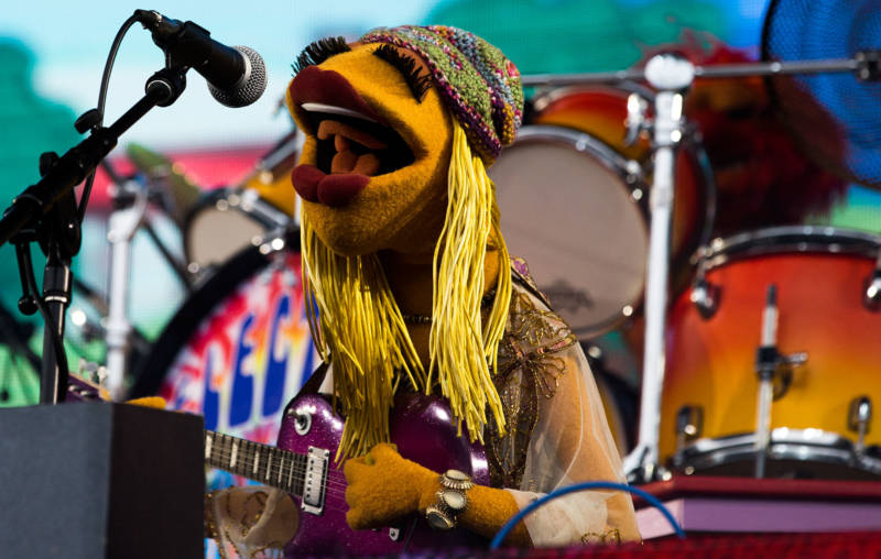 The Muppets' Dr. Teeth and the Electric Mayhem perform at the 2016 Outside Lands Festival in Golden Gate Park.