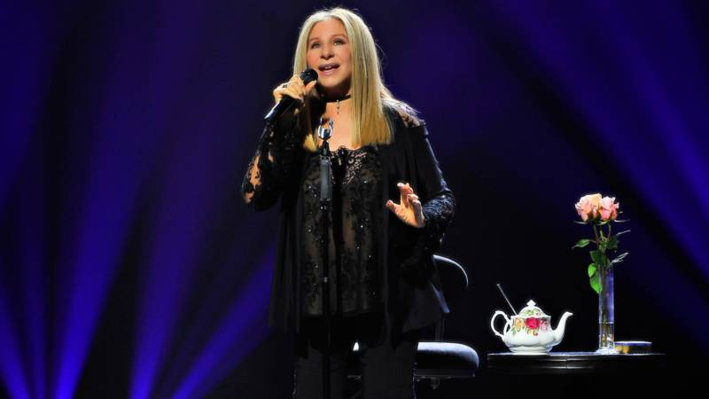 Barbra Streisand performs onstage during the Barbra - The Music... The Mem'ries... The Magic! Tour at SAP Center on August 4, 2016 in San Jose, California.
