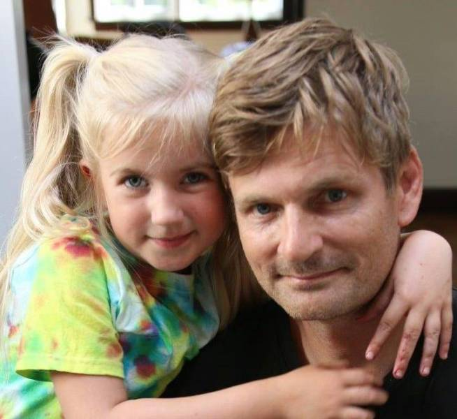 Kenneth Walton and his daughter