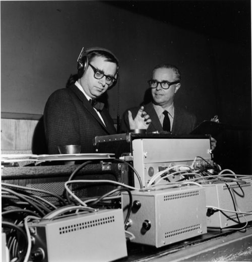 Rudy Van Gelder and Blue Note co-founder Alfred Lion.