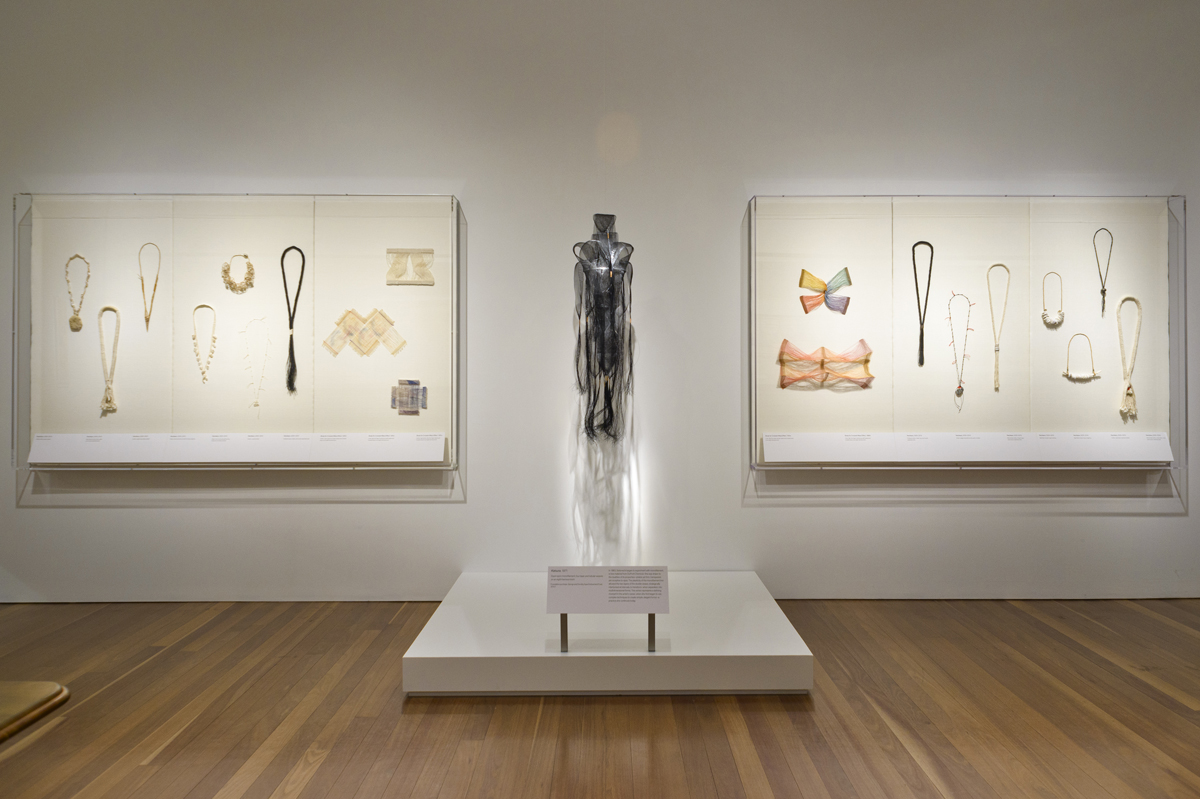 Installation view of 'Kay Sekimachi: Student, Teacher, Artist.'