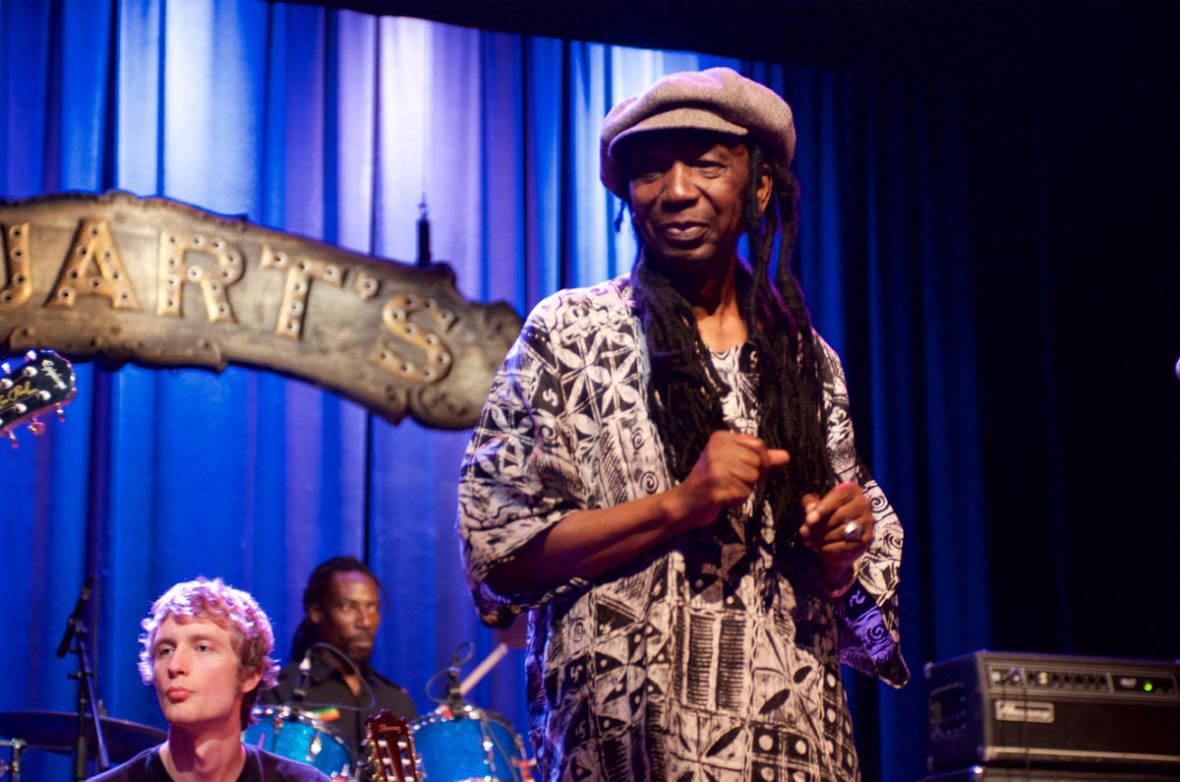 Thomas Mapfumo on stage