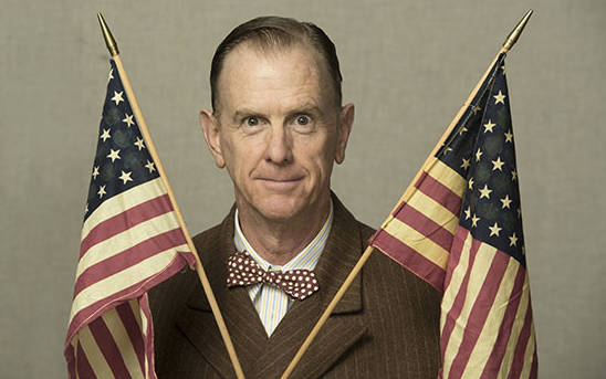 David Kelly plays President Buzz Windrip in Berkeley Rep's new adaptation of Sinclair Lewis' 1935 novel 'It Can't Happen Here.' a new adaptation based on the 1935 Sinclair Lewis novel.