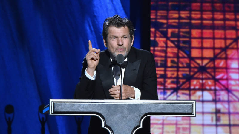 Jann Wenner speaks onstage during the 30th Annual Rock And Roll Hall Of Fame Induction Ceremony at Public Hall on April 18, 2015 in Cleveland, Ohio.