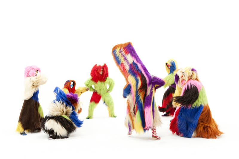 Nick Cave's soundsuits in the work 'Drive By'