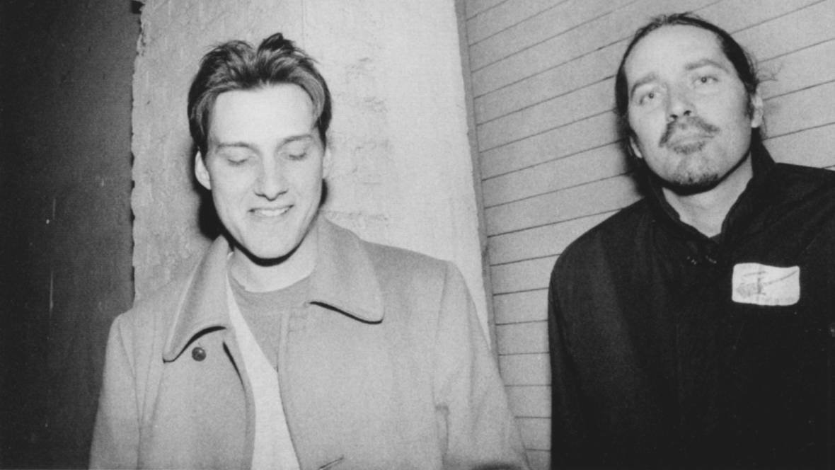 Scott Kannburg AKA Spiral Stairs and Gary Young in 1992  Photo: Gail Butsensky / Courtesy of Spiral Stairs Archive