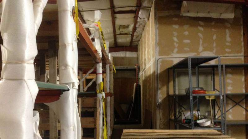 The warehouse may need a lot of work to turn into a glass studio, but the improvements will count against the rent.