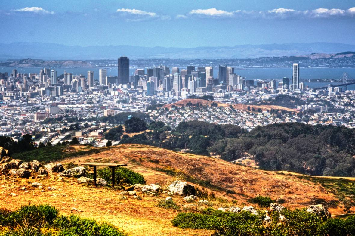 San Francisco, taken from San Bruno Mountains Summit Loop Trail Photo: San Mateo County Parks