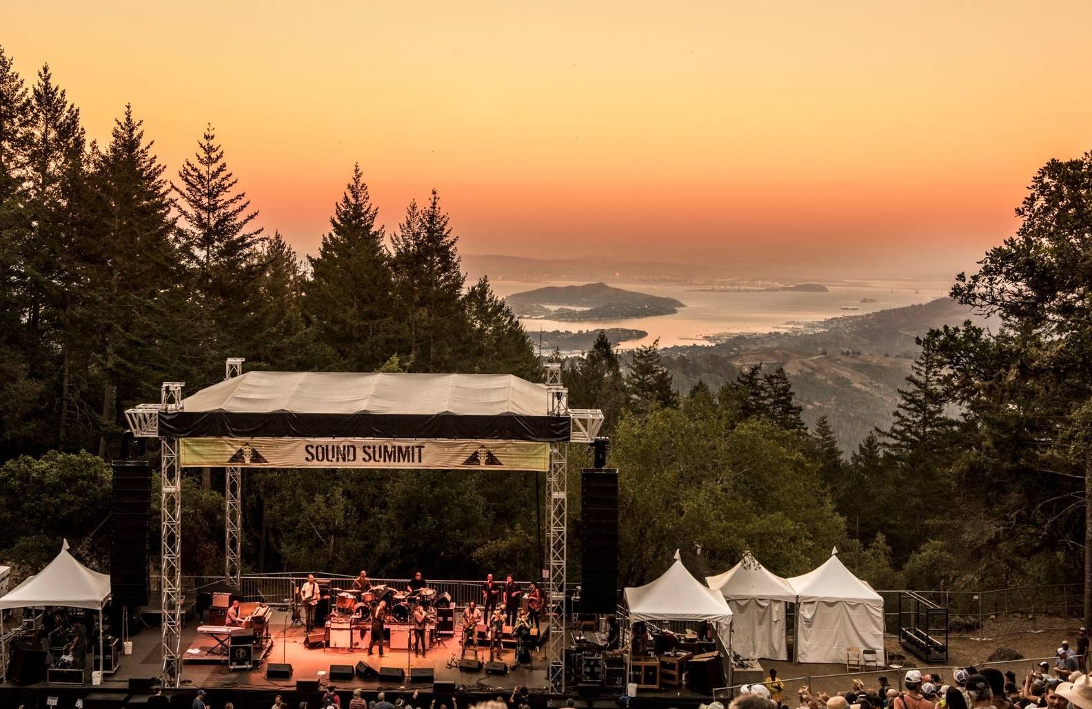 Sound Summit is a concert at the Mountain Theater on Mt. Tamalpais