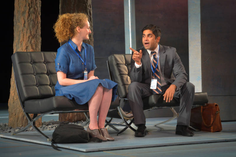 Brenda Meaney and Vandit Bhatt in Tom Stoppard's 'The Hard Problem' continues at the American Conservatory Theater through Nov. 13