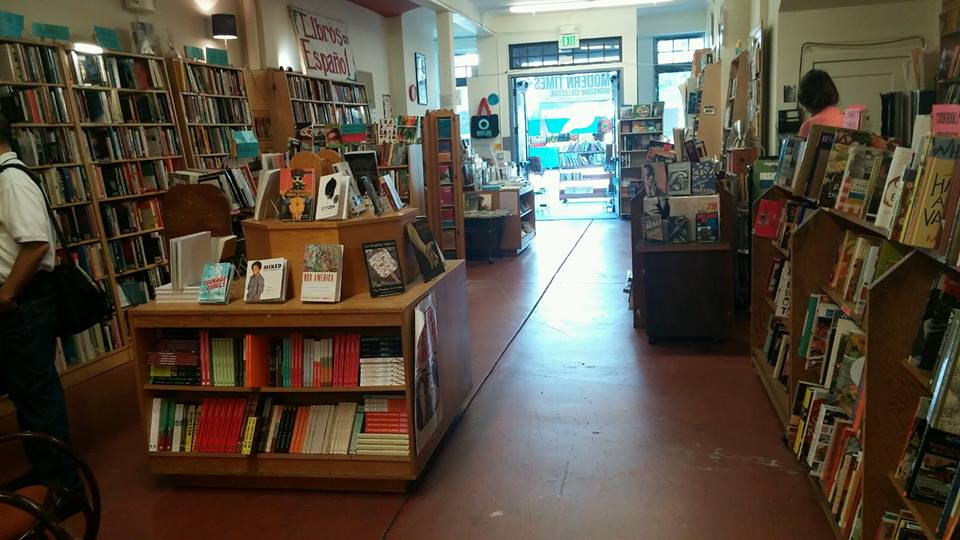 Inside the Modern Times Bookstore on 24th Street.