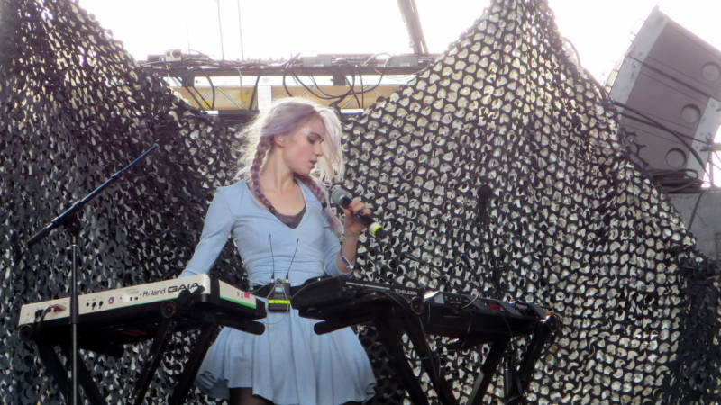 Claire Boucher performs as Grimes