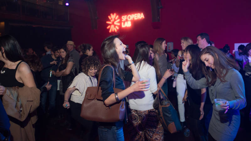 Fans get their opera on at a recent SF Opera Lab event in San Francisco.