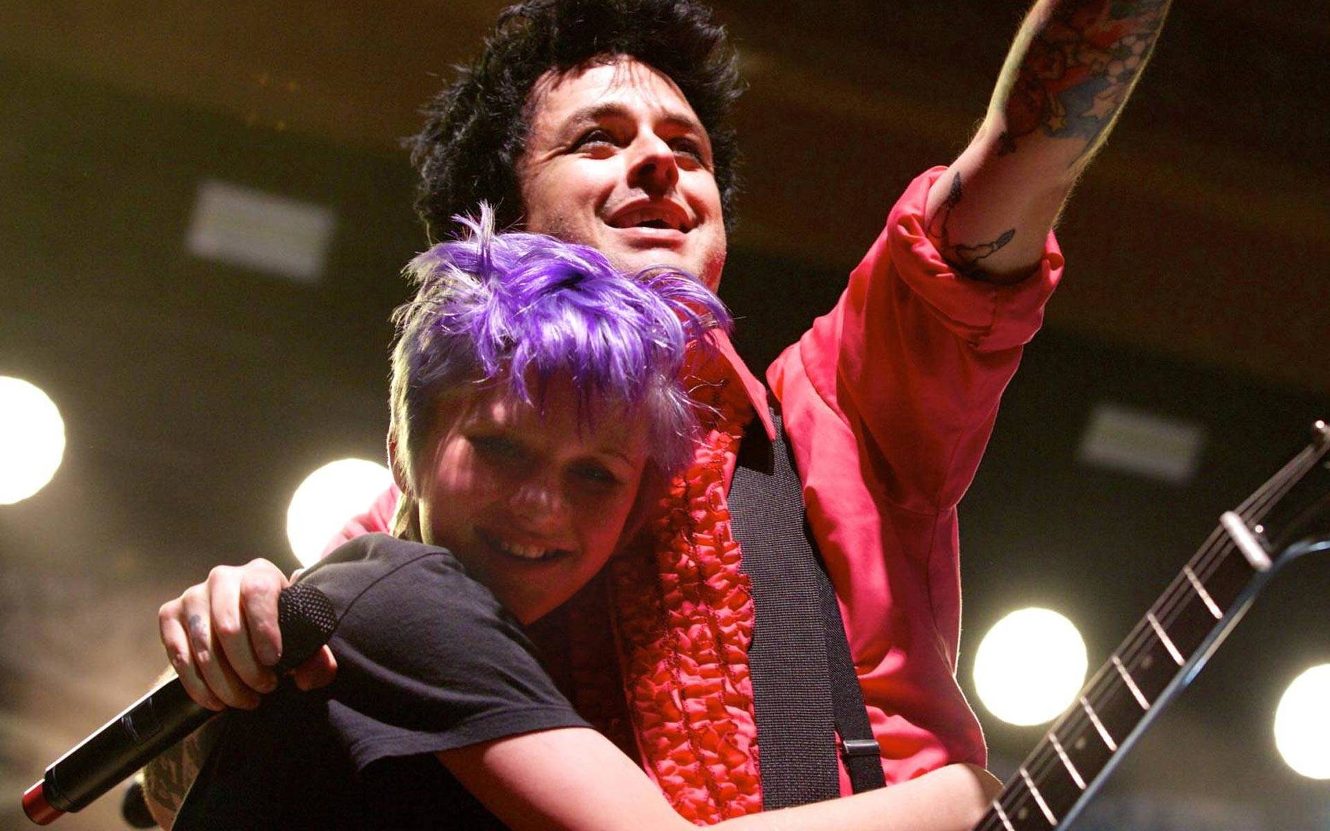 Billie Joe Armstrong makes one teenager's life at the UC Theatre in Berkeley, Oct. 20, 2016.  Emma Silvers/KQED