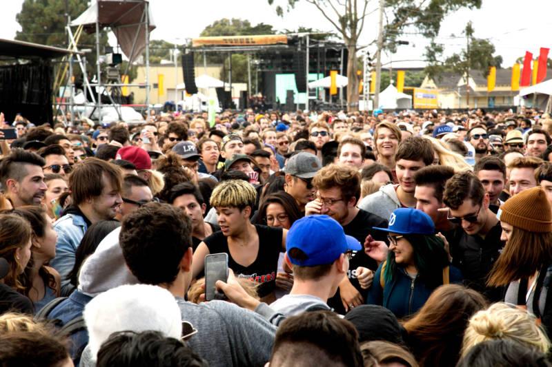 Kelela in crowd