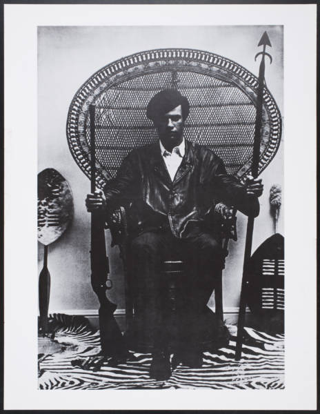 Blair Stapp, Untitled (Huey Newton), circa 2003. Offset lithograph on paper, 26 x 20 in. Collection of the Oakland Museum of California, All Of Us Or None Archive. Gift of the Rossman Family.