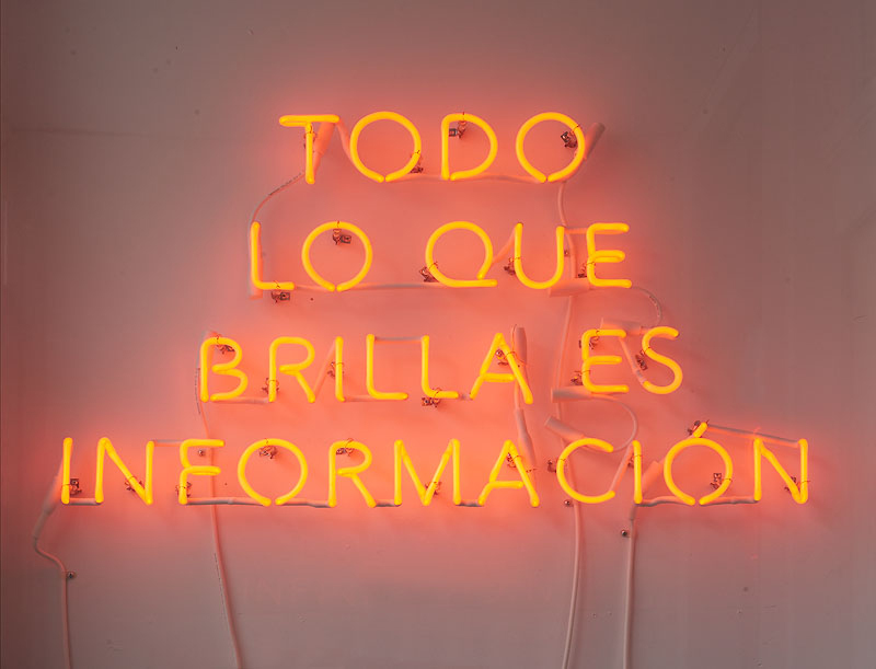 Adriana Martinez, 'TODO LO QUE BRILLA ES INFORMACIÓN (EVERYTHING THAT SHINES IS INFORMATION),' 2016.