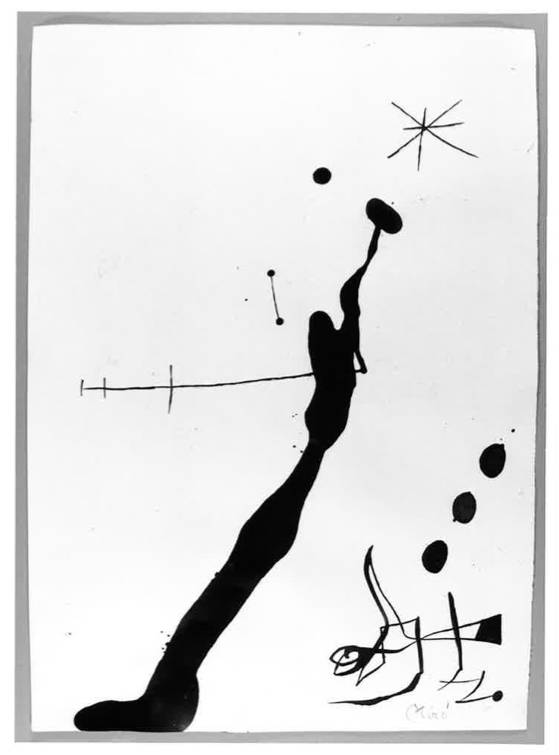 Joan Miró, 'Femme et oiseau dans la nuit,' 1972.