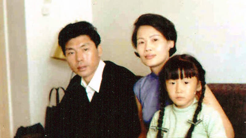 The Yang family, early upon their arrival in San Francisco in 1967, looking a little shell-shocked.