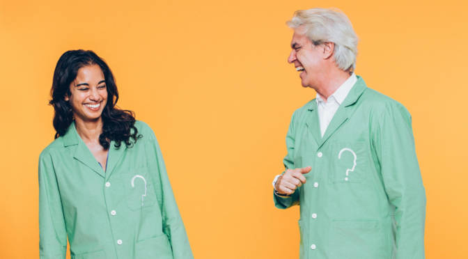 David Byrne and Mala Gaonkar collaborate on The Institute Presents: Neurosociety, an immersive theatrical experience designed to make cognitive neuroscience research come alive at Pace Art+Technology in Menlo Park.