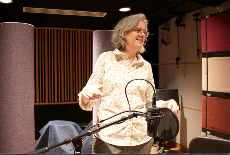 Terri Winston at the WAM studios.