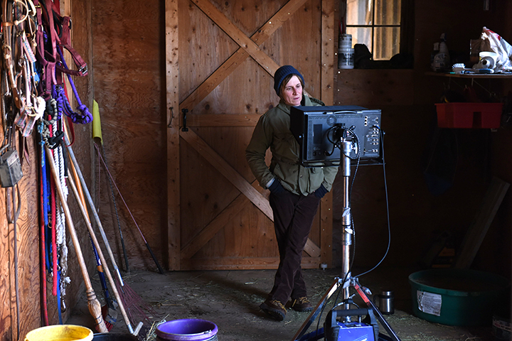 Director Kelly Reichardt on the set of 'Certain Women.'
