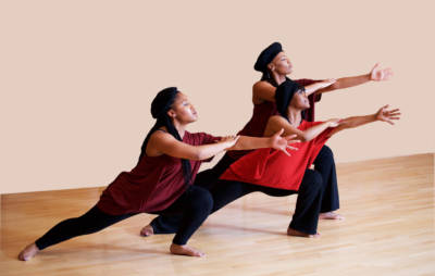Members of Oakland's Dimensions Dance Theater perform 'Project Panther,' choreographed and directed by Deborah Vaughan, Oct. 15 at Malonga Casquelourd Center for the Arts.