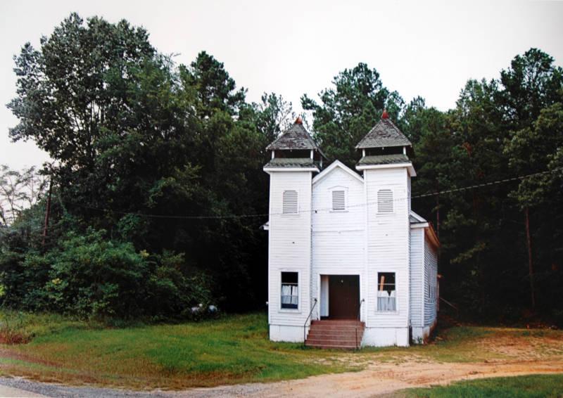 William Christenberry, Church, Sprott, Alabama, 1981.