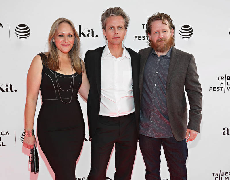 Michelle Maxson, director Ian Olds, and Gabe Maxson at the 2016 Tribeca Film Festival.