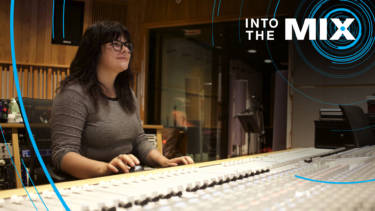 WAM engineer Veronica Simonetti at the mixing console.