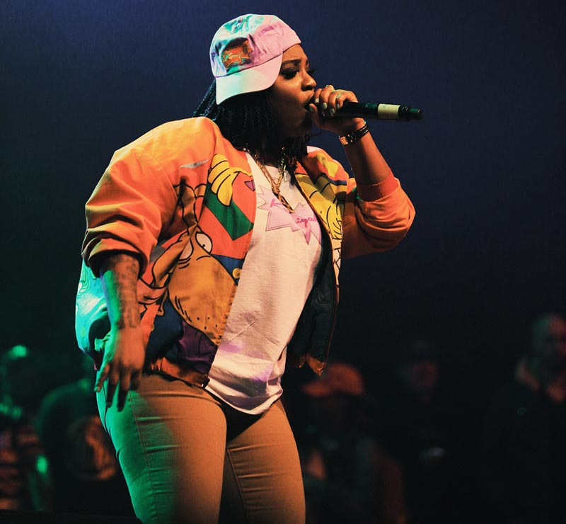 Kamaiyah performs at the Fox Theater in Oakland, Nov. 25, 2016.