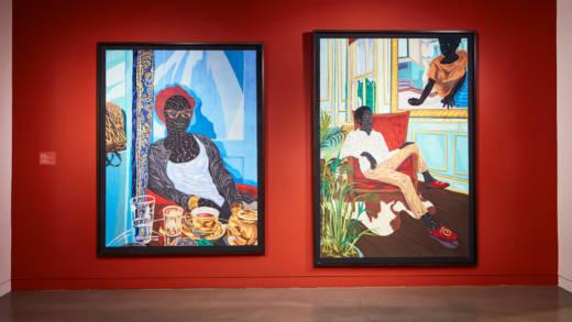 Toyin Ojih Odutola, 'Afternoon Tea' and 'A Grand Inheritance,' 2016.