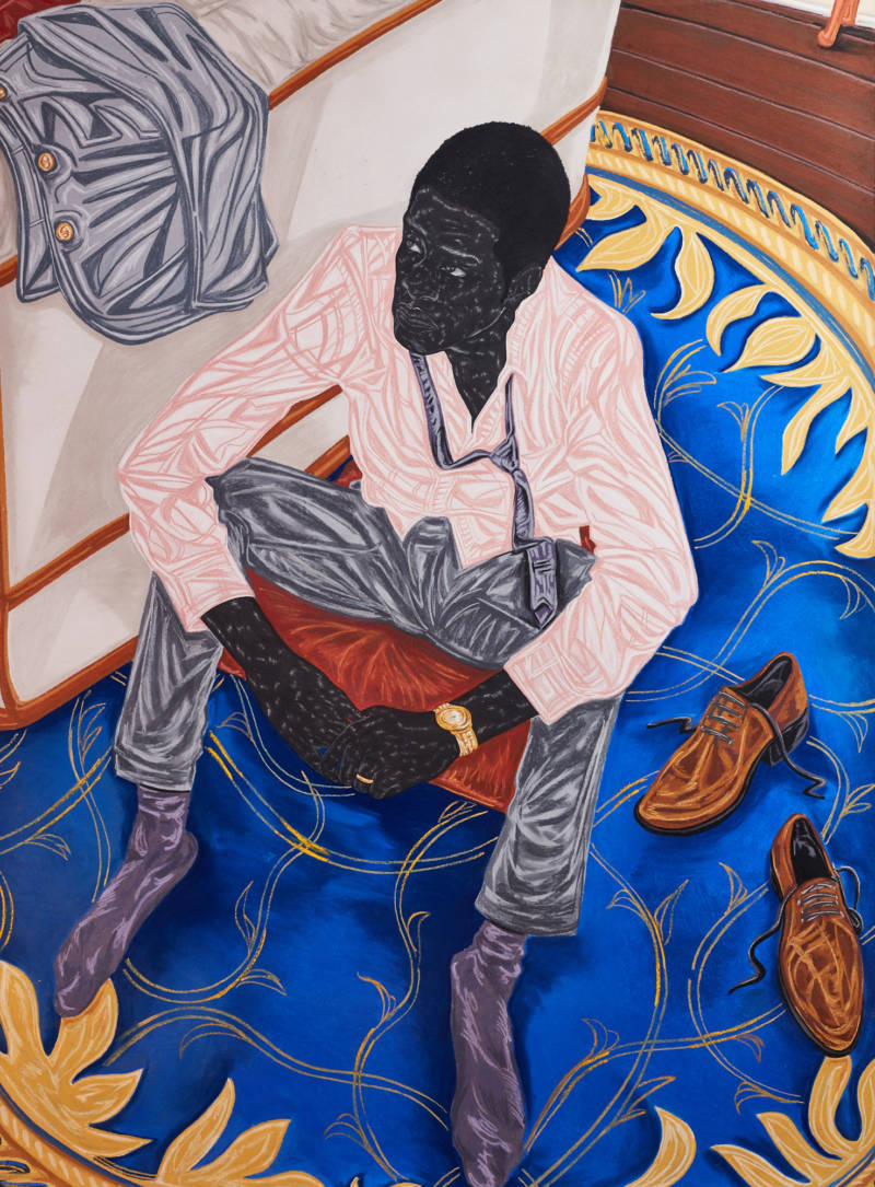 Toyin Ojih Odutola, 'A Misunderstanding with the Mistress,' 2016. (Courtesy the artist and Jack Shainman Gallery, New York)