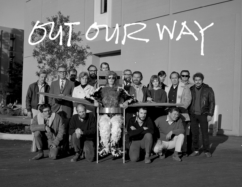 Exhibition announcement for 'Out Our Way.'