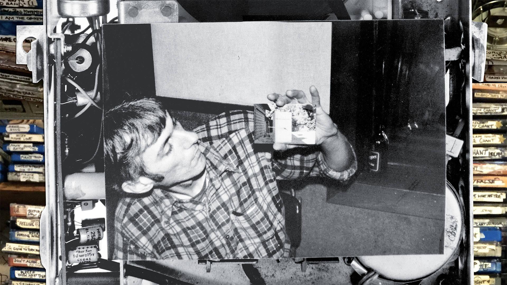 Portrait of Don Joyce among carts Photo: Ian Allen/Negativland/Shawn Wolfe