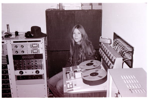 Ellen Burke at Wally Heider Studios in the early '70s.