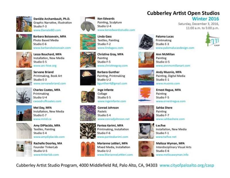 Cubberley is also home to 24 subsidized artist studios. The city charges a third of the market rate for an old building in Palo Alto: less than a dollar a square foot. The city also organizes events like open studios to drive foot traffic and art sales.