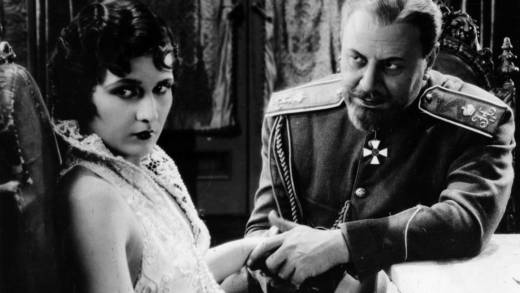 Evelyn Brent and Emil Jannings in Josef von Sternberg's 'The Last Command,' 1928.