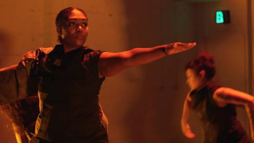 "Jasmine Johnson, a U.S. Navy veteran, performs in ""Stand Ground"" at CounterPulse."