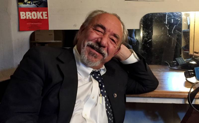 Will Durst backstage before his show 'Elect to Laugh' at The Marsh