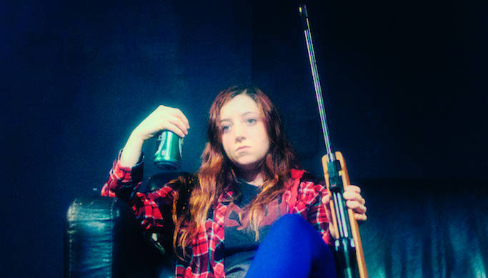 Laurie (Gabby Rose) is a bit troubled in Performers Under Stress' production of 'Black River Falls' by Bryn Magnus.