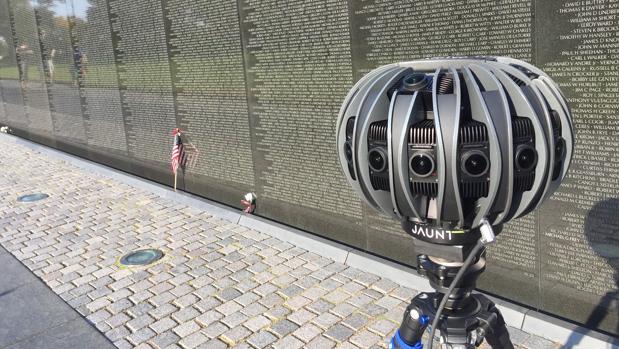 Jaunt's VR camera at the Vietnam Veterans Memorial. (Courtesy Jaunt)